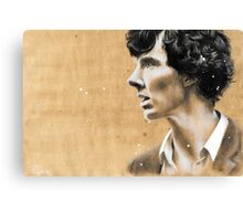 Charcoal & coffee Sherlock Canvas Print