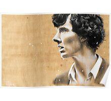 Charcoal & coffee Sherlock Poster