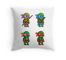 Teenage Mutant Ninja Turtles Pixels Throw Pillow