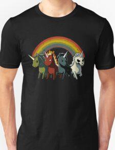 Four Unicorns of the Apocalypse Unisex T-Shirt