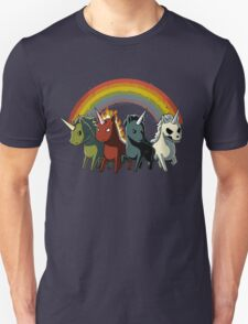 Four Unicorns of the Apocalypse Unisex T-Shirt
