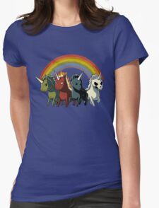 Four Unicorns of the Apocalypse Womens Fitted T-Shirt