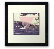 Triangle on Mountains Framed Print