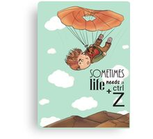 Ctrl + Z - The Skydiving Canvas Print