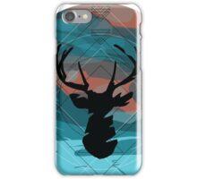 Deer head in space iPhone Case/Skin