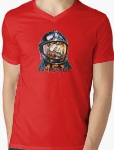 Fahrenheit 451 Fireman Mens V-Neck T-Shirt