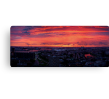 Rotterdam Sunset Panorama, from Euromast Canvas Print