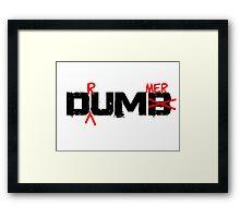 Drummer Dumb Funny Cool Shirt For Drummers Framed Print