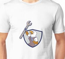 Mechanic Bald Eagle Spanner Crest Cartoon Unisex T-Shirt
