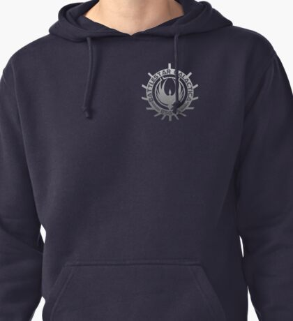 Battlestar Galactica - Chrome Logo Pullover Hoodie