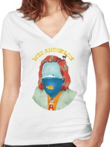 Wes Anderson's world Women's Fitted V-Neck T-Shirt