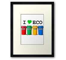 I LOVE ECO. Framed Print