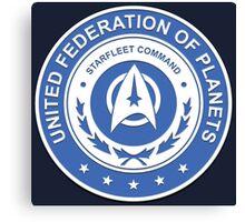 Star Trek - UFP Starfleet Command Canvas Print