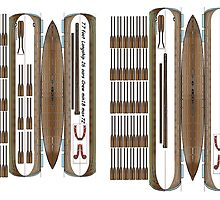Longship 1/72 fold up plan. 2 Ships on a size small print by Radwulf
