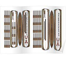 Longship 1/72 fold up plan. 2 Ships on a size small print Poster