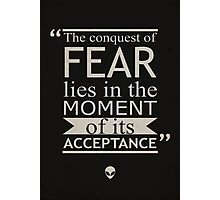 Conquest of Fear Photographic Print