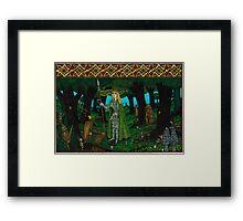 The Mistletoe King, Painted Framed Print
