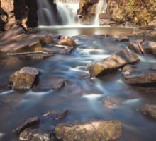River bed at Penllergaer falls Swansea Sticker