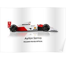 Ayrton Senna - McLaren MP4/6A - PLEASE READ DESCRIPTION Poster
