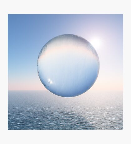 Water Sphere above the Sea Photographic Print