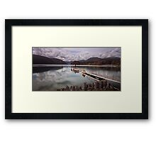 Comox Lake jetty Vancouver island Framed Print