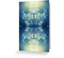 winter sun leak snow tree kaleidoscope Greeting Card