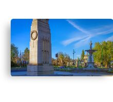 The Cenotaph and the Fountain Canvas Print