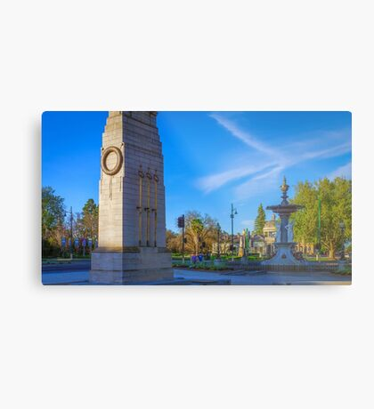 The Cenotaph and the Fountain Metal Print