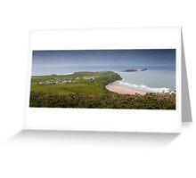 Rhossili village and bay, Gower Greeting Card