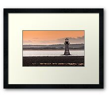 Whitford point lighthouse Wales Framed Print