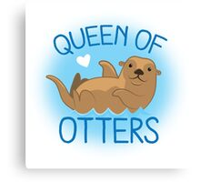 queen of otters Canvas Print