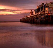 Bournemouth pier at dawn Sticker