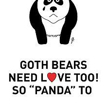 Goth-Bear (Panda) 1 by mjfouldes