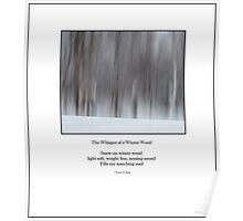 Haiku Poster - The Whisper of a Winter Wood Poster