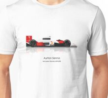Ayrton Senna - McLaren MP4/5 ** PLEASE SEE DESCRIPTION ** Unisex T-Shirt