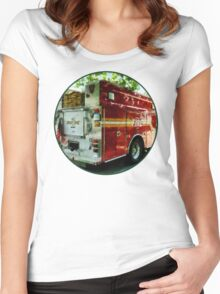 Back Of Fire Truck Women's Fitted Scoop T-Shirt