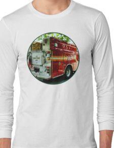 Back Of Fire Truck Long Sleeve T-Shirt