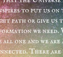 """Once we are in right relations and mindful in nature..."" — Billie Dean Sticker"