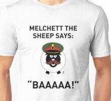 Melchett Sheep Card 2 Unisex T-Shirt