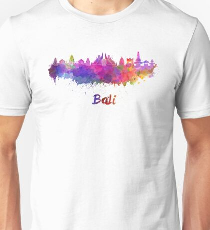 Bali skyline in watercolor Unisex T-Shirt
