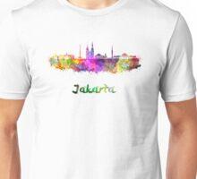 Jakarta skyline in watercolor Unisex T-Shirt
