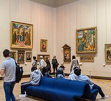 At the Louvre, Paris, France by Elaine Teague