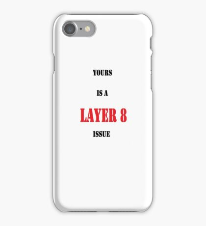 Layer 8 Issue iPhone Case/Skin