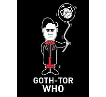 GOTH DR WHO - WHITE TEXT! Photographic Print