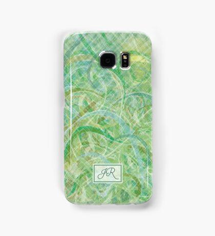 Green Abstract Print Samsung Galaxy Case/Skin