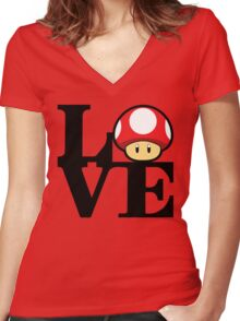 Love Power-Up Women's Fitted V-Neck T-Shirt