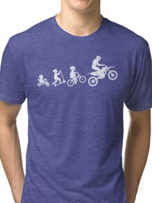 Evolution To Biking Extreme Biker Cycling,Funny Gift For Biking Lover Tri-blend T-Shirt