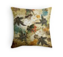 Dragonfly Flit Rustic Splash Throw Pillow