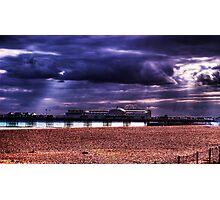 Brighton Pier at dusk Photographic Print