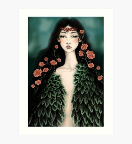Swanmaiden Art Print